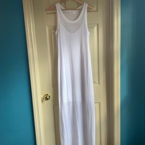 Velvet L White Mesh Dress Lined